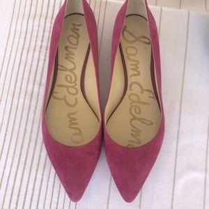 Sam Edelman Reyanne Pink Suede Flats Size Size 9